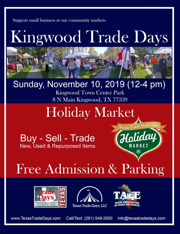 Kingwood Holiday Market Tickets, Sun, Nov 10, 2019 at 12:00