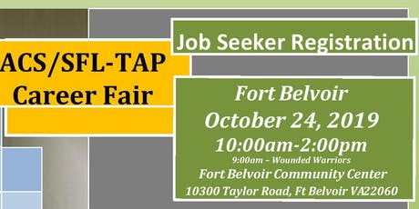 Fort Belvoir Fall Career Fair 24 October 2019 tickets