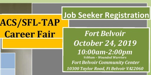 Fort Belvoir Fall Career Fair 24 October 2019