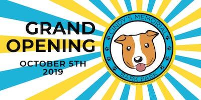 Grand Opening: Cindy's Memorial Bark Park