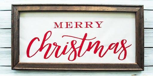 Craft Class: Christmas Reverse Canvas