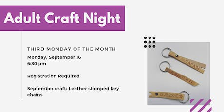 September Adult Craft Night - Second Session tickets