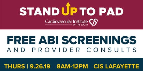 Stand Up to PAD: Free ABI Screenings tickets