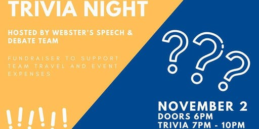 Trivia Night - Webster Speech and Debate Team