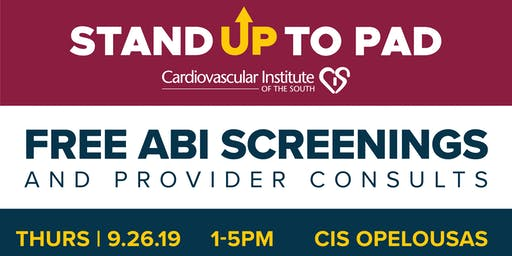 Stand Up to PAD: Free ABI Screenings