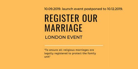 Register Our Marriage Launch tickets