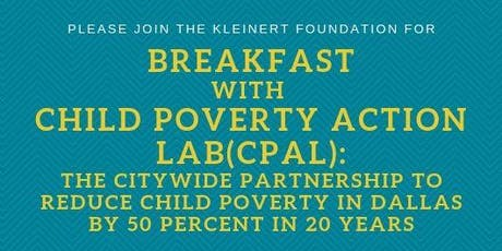 Breakfast with Child Poverty Action Lab(CPAL) tickets