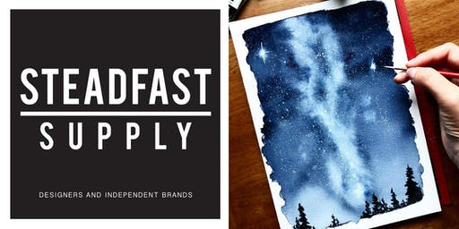 DIY Workshop   Painting a Milky Way Night Sky w. Watercolors, Hosted by Writing Desk Creatives