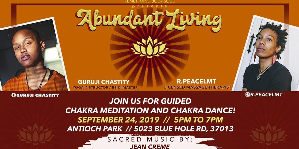 Abundant Living: Guided Chakra Meditation & Chakra Dance