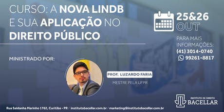 Curso: A nova LINDB e sua aplicação no Direito Público tickets
