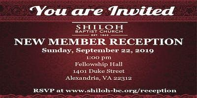 Shiloh Baptist Church New Member Reception
