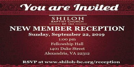 Shiloh Baptist Church New Member Reception tickets