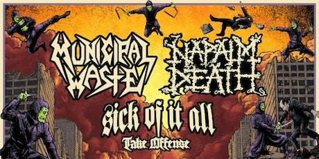 Municipal Waste +Napalm Death tickets