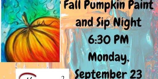 Fall Pumpkin Paint and Sip Night