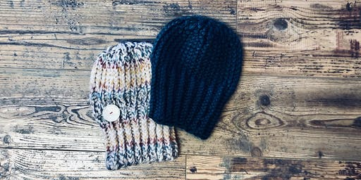 Chunky Knit Beanie Class using a Round Loom (Beginner)