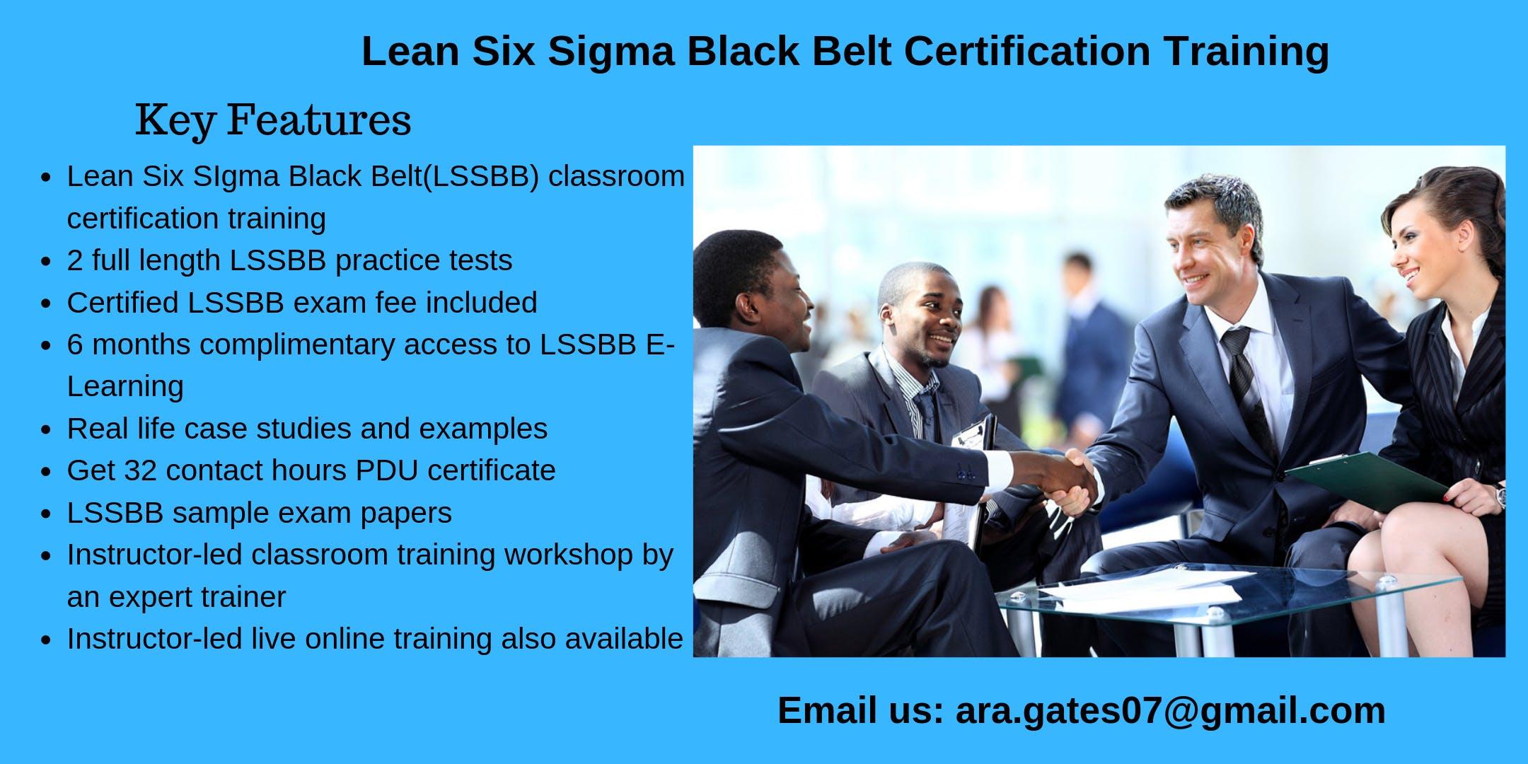 Lean Six Sigma Black Belt (LSSBB) Certification Course in Boise, ID