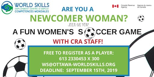 FUN SOCCER GAME FOR NEWCOMER WOMEN AND CRA WOMEN STAFF