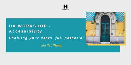 UX Workshop for Founding Teams: Accessibility tickets