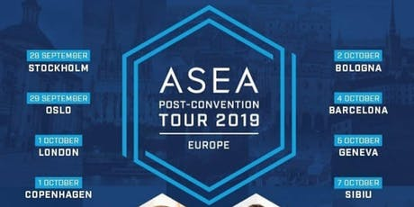 4 OCT- ASEA, TOUR EUROPEO CONFERENCIAS POST-CONVENCION 2019 entradas