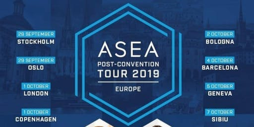 4 OCT- ASEA, TOUR EUROPEO CONFERENCIAS POST-CONVENCION 2019