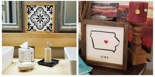 Framed Farmhouse Style Sign Workshop