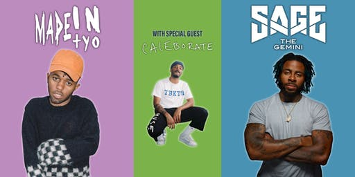 Colby College Fall Concert 2019 with MadeinTYO, Sage the Gemini, and Special Guest Caleborate