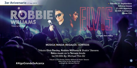 Tribute Robbie Williams / Tribute Elvis Presley entradas