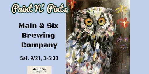 Paint N' Pints at Main & Six Brewing Company