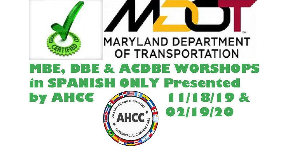 Maryland Department of Transportation MBE, DBE and ACDBE
