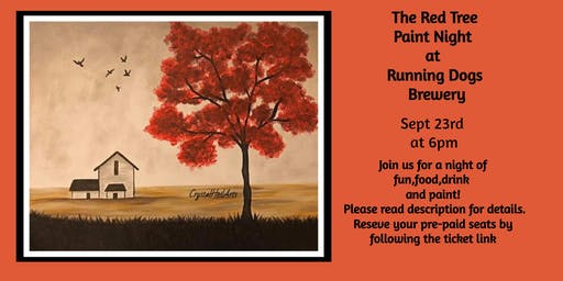 The Red Tree Paint Night at Running Dogs Brewery