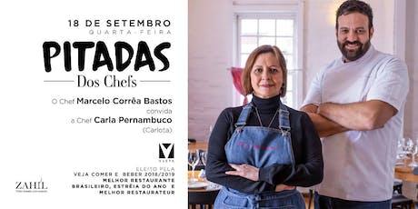 PITADAS dos Chefs - Menu Degustação com Carla Pernambuco (Carlota) ingressos