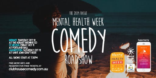 Mental Health Week Comedy Roadshow - Hobart