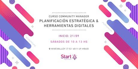 Curso community manager: Planificación estratégica y herramientas digitales entradas