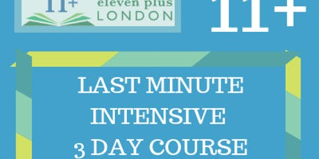 11+ Last Minute Intensive 3 Day Course (21st - 23rd Dec / 29th - 31st Dec) tickets