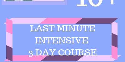 10+ Last Minute Intensive 3 Day Course (21st - 23rd Dec / 29th - 31st Dec)