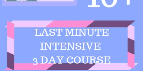 10+ Last Minute Intensive 3 Day Course (21st - 23rd Dec / 29th - 31st Dec) tickets