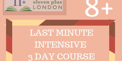 8+ Last Minute Intensive 3 Day Course (21st - 23rd Dec / 29th - 31st Dec)
