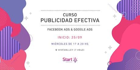 Curso: Publicidad efectiva - Facebook Ads & Google Ads entradas