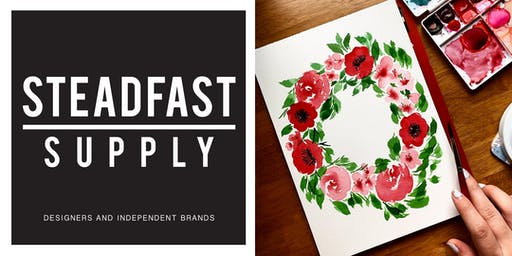 DIY Workshop | Painting Watercolor Florals: Poppies + Peonies, Hosted by Writing Desk Creatives
