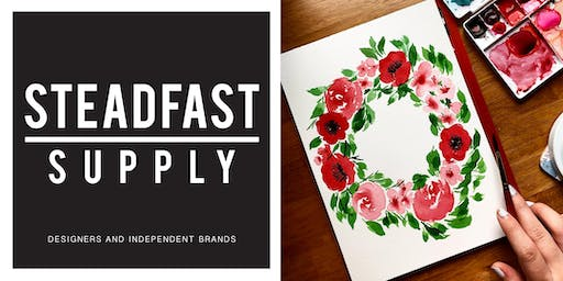 DIY Workshop | Painting Watercolor Florals: Poppies + Peonies