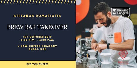 STEFANOS DOMATIOTIS BREW BAR TAKEOVER tickets