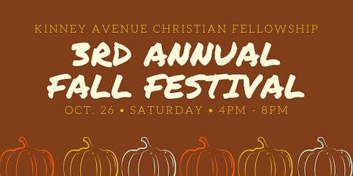 3rd Annual Fall Festival