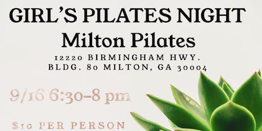 Girl's Pilates Event