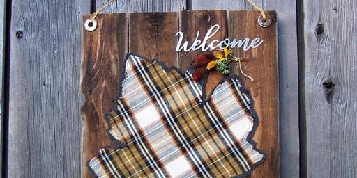 Barnboard & Tartan - DIY Fall Sign