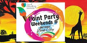 """Paint & Sip: The """"African Sunset II"""" ~ Social Artworking at DBC Bookstore!"""