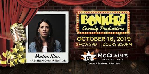 Malia Sias at Bonkerz Comedy Club - McClain's