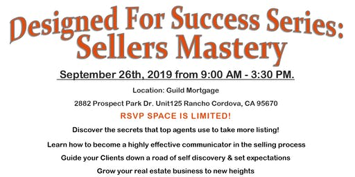 Designed for success Series: Sellers Mastery