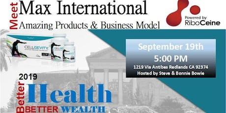 Meet Max International - Amazing Products and Business Model tickets
