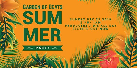 Garden of Beats - Summer Party tickets