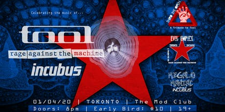 Tool, Rage Against The Machine & Incubus Tribute tickets